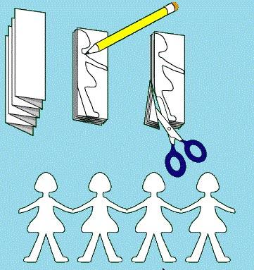 آموزش تصویری ساختن آدمک های کاغذی