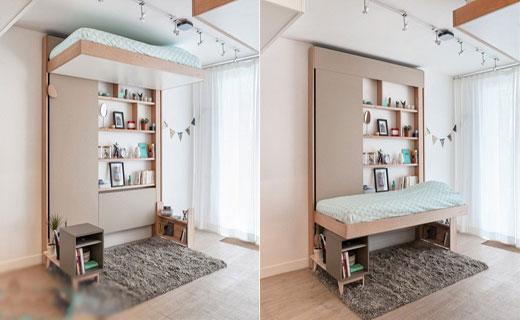 مدل تخت خواب سقفی برای منازل کوچک