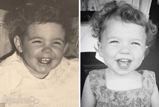 عکس های دیدنی از شباهت زیاد کودکان با دوران کودکی والدین