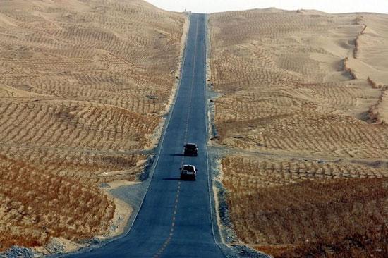 عکس های جالب از طولانی ترین جاده بی آب و علف دنیا