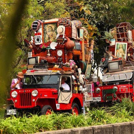 جشن عجیب بار زدن جیپ ها در کلمبیا + عکس