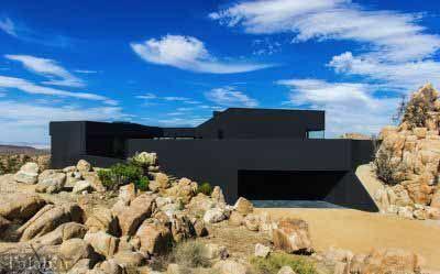 عکس هایی از یک ساختمان مجلل و لوکس در وسط بیابان