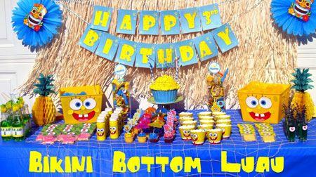 عکس شادترین دکوراسیون تولد با تم باب اسفنجی