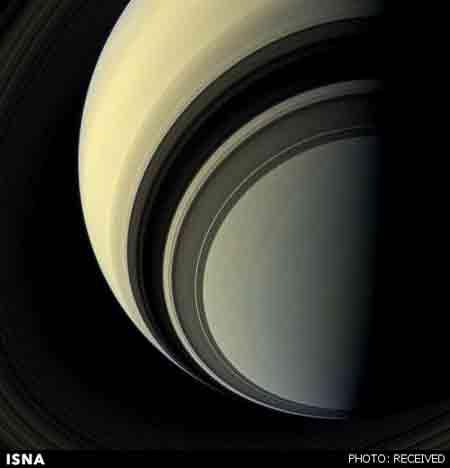 ناسا عکس هایی از دو قمر سیاره زحل را منتشر کرد