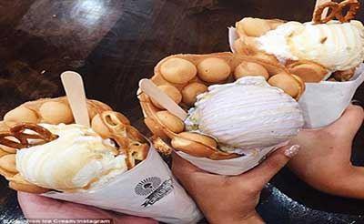 خلاقیت جالب در تولید نان بستنی (عکس)