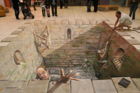 عکس های دیدنی ترین نقاشی های سه بعدی جهان (3)