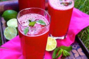 نوشیدنی صورتی ویژه تابستان