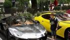 خود نمایی ثروتمندان عرب با خودرو های لوکس و اسپرت