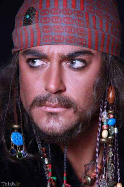 عکس های جالب از محمدرضا گلزار با گریم دزدان دریایی