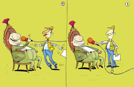 کاریکاتورهای جالب ویژه روز خبرنگار