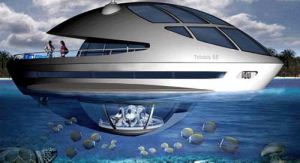 تفریح اعراب ثروتمند در اعماق دریا (عکس)