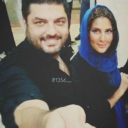 عکس سلفی سام درخشانی و همسرش عسل
