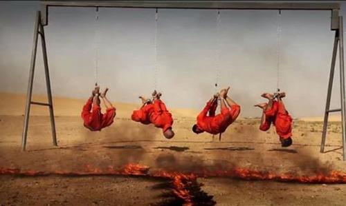 داعش 4 مرد عراقی را کباب کرد «+عکس»