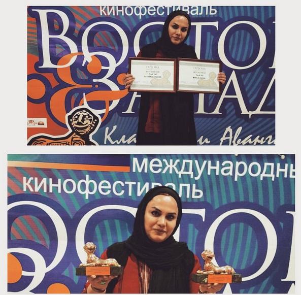 دو جایزه برای ایران در دستان هنرمند نرگس آبیار + عکس