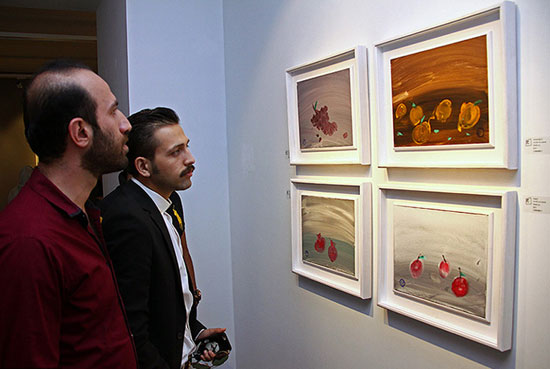 تصاویر نمایشگاه نقاشی مریم حیدرزاده
