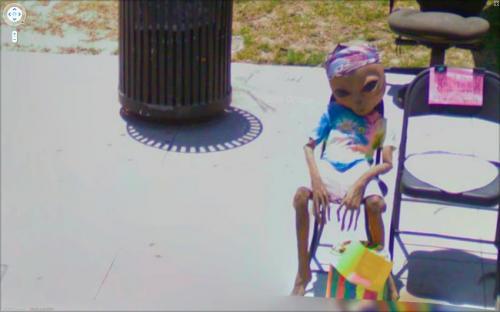 تصاویری عجیب ثبت شده در دوربین گوگل