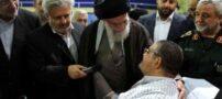 دیدار صمیمانه رهبری با جانبازان ( تصویری)