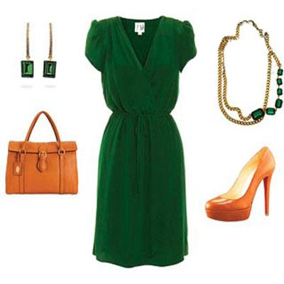 طریقه ست کردن لباس با رنگ سبز