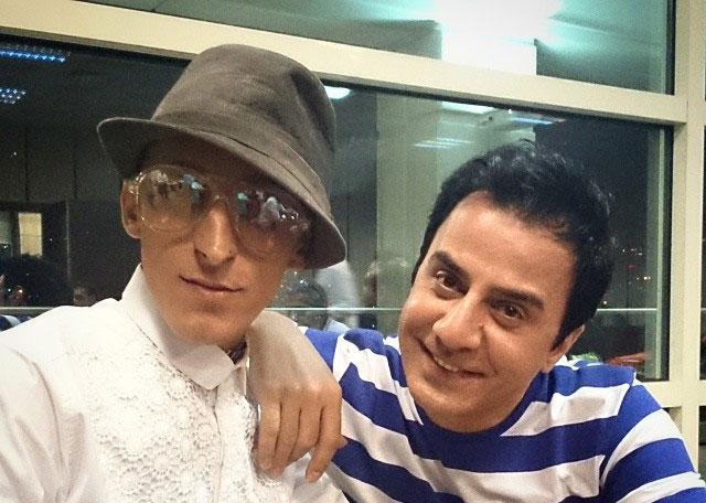 عکسی از مرتضی پاشایی در کنار عمو پورنگ و امیر محمد