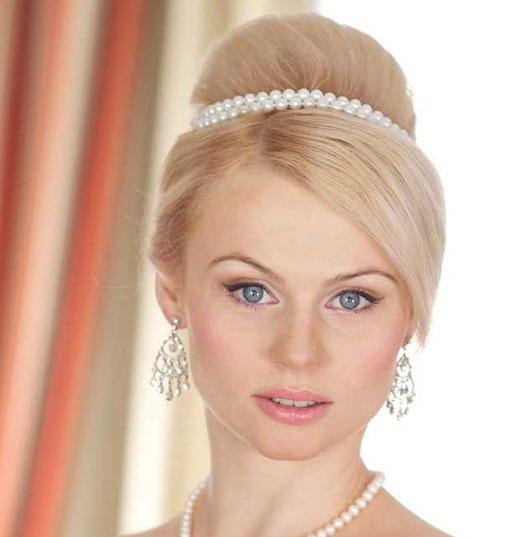 مدل های زیبا و جدید شنیون مو عروس