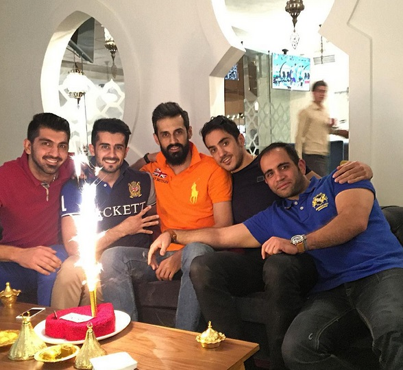 جشن تولد سعید معروف والیبالیست + عکس