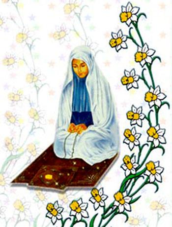 نتیجه تصویری برای مادر نماز شب می خواند کودکانه