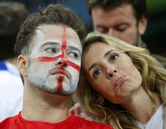 تصاویری از ناراحت ترین تماشاگران فوتبال