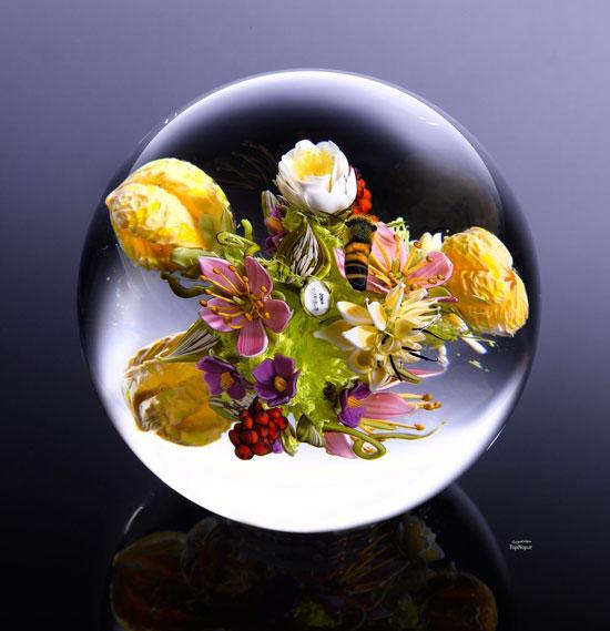 خلق آثار هنری ارزنده بر روی شیشه + تصاویر