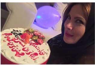 عکس جشن تولد همسر رضا صادقی
