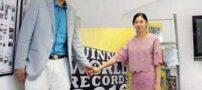 ثبت رکورد بلندقدترین زوج جهان در گینس + تصاویر