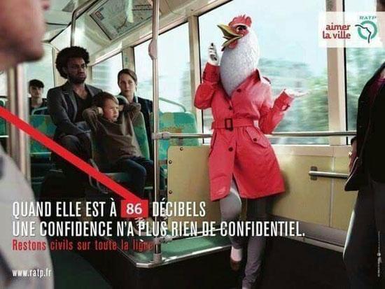 عکس های خنده دار از بنر های فرهنگی در مترو پاریس