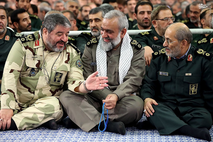 تصاویری از دیدار فرماندهان سپاه با رهبر انقلاب