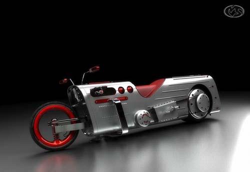 عکس های موتور سیکلت های مدرن و عجیب آلمانی