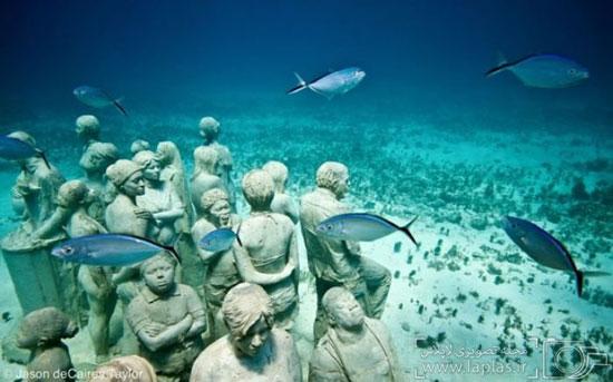 موزه ای عجیب و دیدنی در زیر آب + تصاویر
