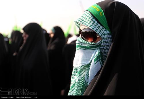 تصاویری از زنان نانچیکو کار در مانور سپاه تهران