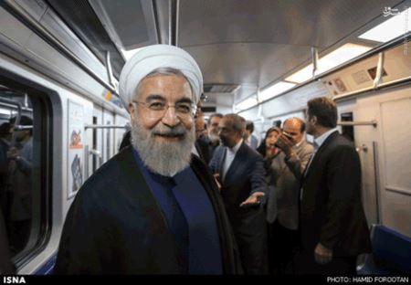 تصاویر جالب مترو سواری رئیس جمهور دکتر روحانی