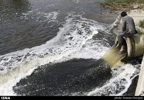 نحوه جالب اعتراض یک مسئول در بندرعباس به آلودگی دریا + عکس