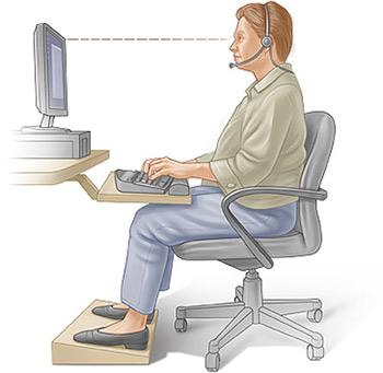 ورزش های مناسب در هنگام کار با کامپیوتر