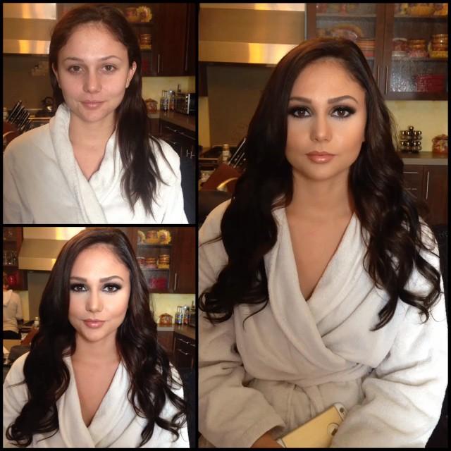 عکس های دیدنی از تبدیل لولو به هلو به کمک آرایش