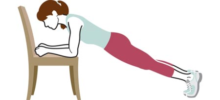 آموزش تصویری حرکات ورزشی با صندلی برای تناسب اندام