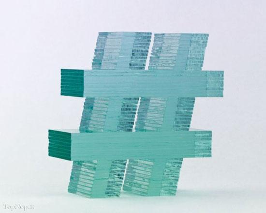 ساخت مجسمه های شیشه ای توسط مجسمه ساز نیوزلندی