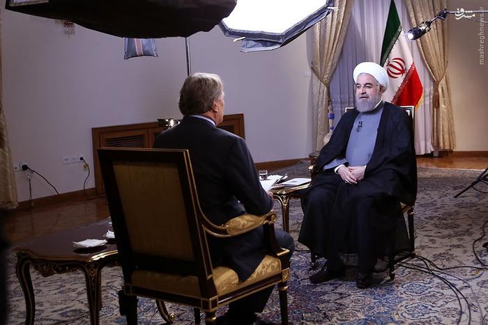 مصاحبه رییس جمهوری با شبکه سی بی اس آمریکا + تصاویر
