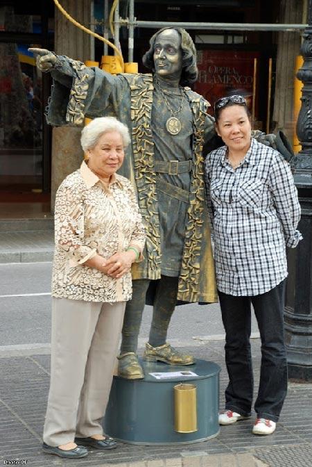 عکس های جالب از مجسمه های زنده در اسپانیا