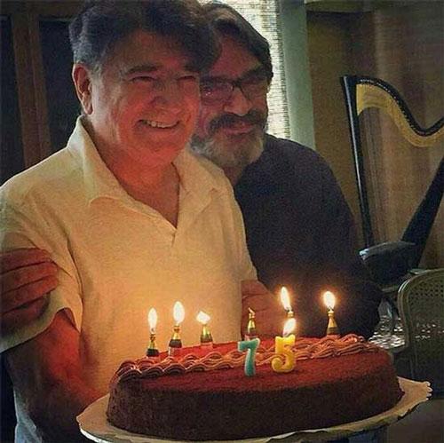 عکسی از کیک تولد 75 سالگی محمدرضا شجریان
