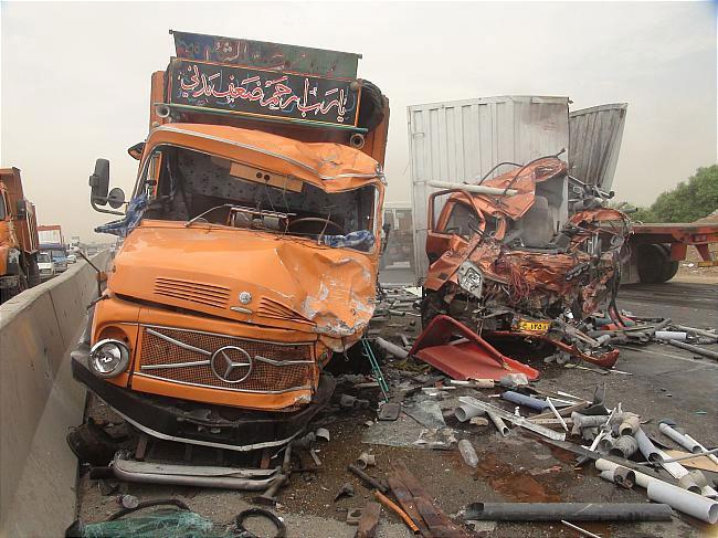کشتار جاده ای کامیون ها و نصب حفاظ ایمنی اجباری