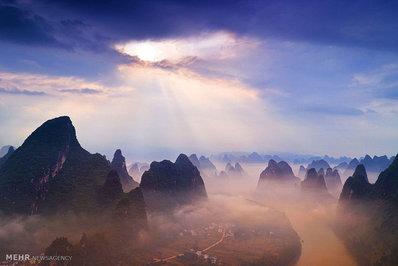 عکس هایی از غروب آفتاب در نقاط مختلف جهان