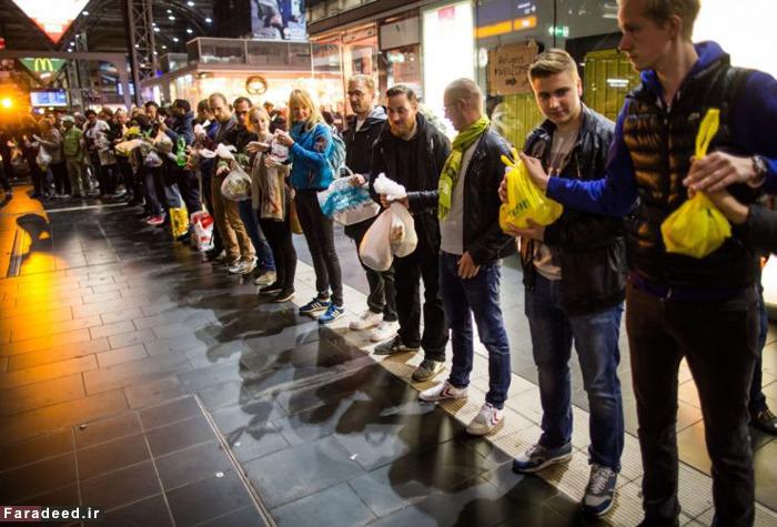 استقبال گرم مردم آلمان از پناهجویان سوری (+عکس)