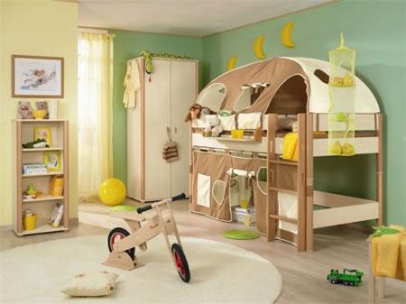 دکوراسیون تخت خواب بچه گانه (2)