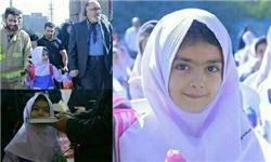 داریوش ارجمند دختر مرحوم عباسپور را به مدرسه برد + عکس