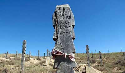 عکس هایی از یک قبرستان جالب در بجنورد